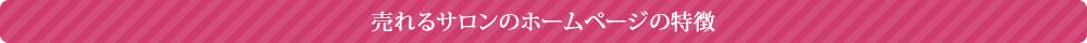 売れるサロンのホームページの特徴